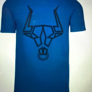 Blue T-Shirt With Bull Sigil